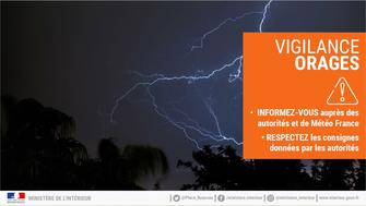 Orages : vigilance orange