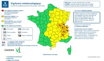 carte de vigilance météo orange orages